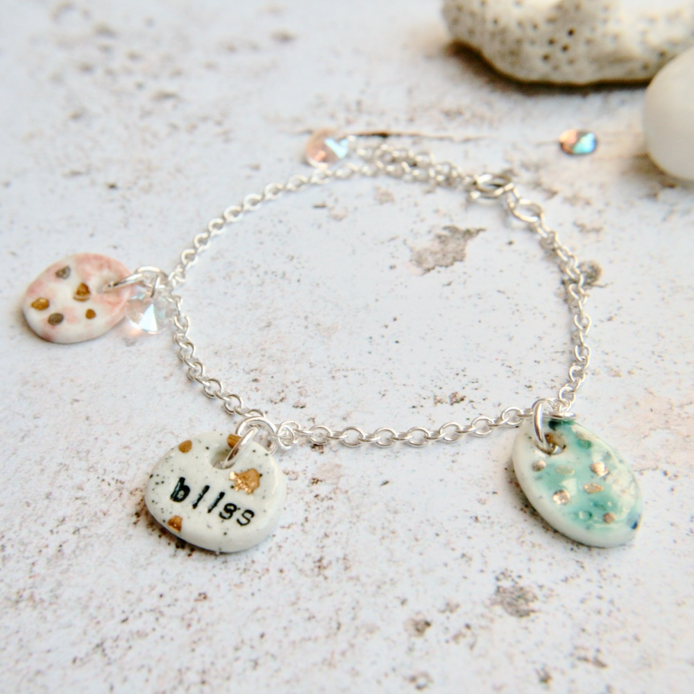 Follow your bliss - sterling silver bracelet