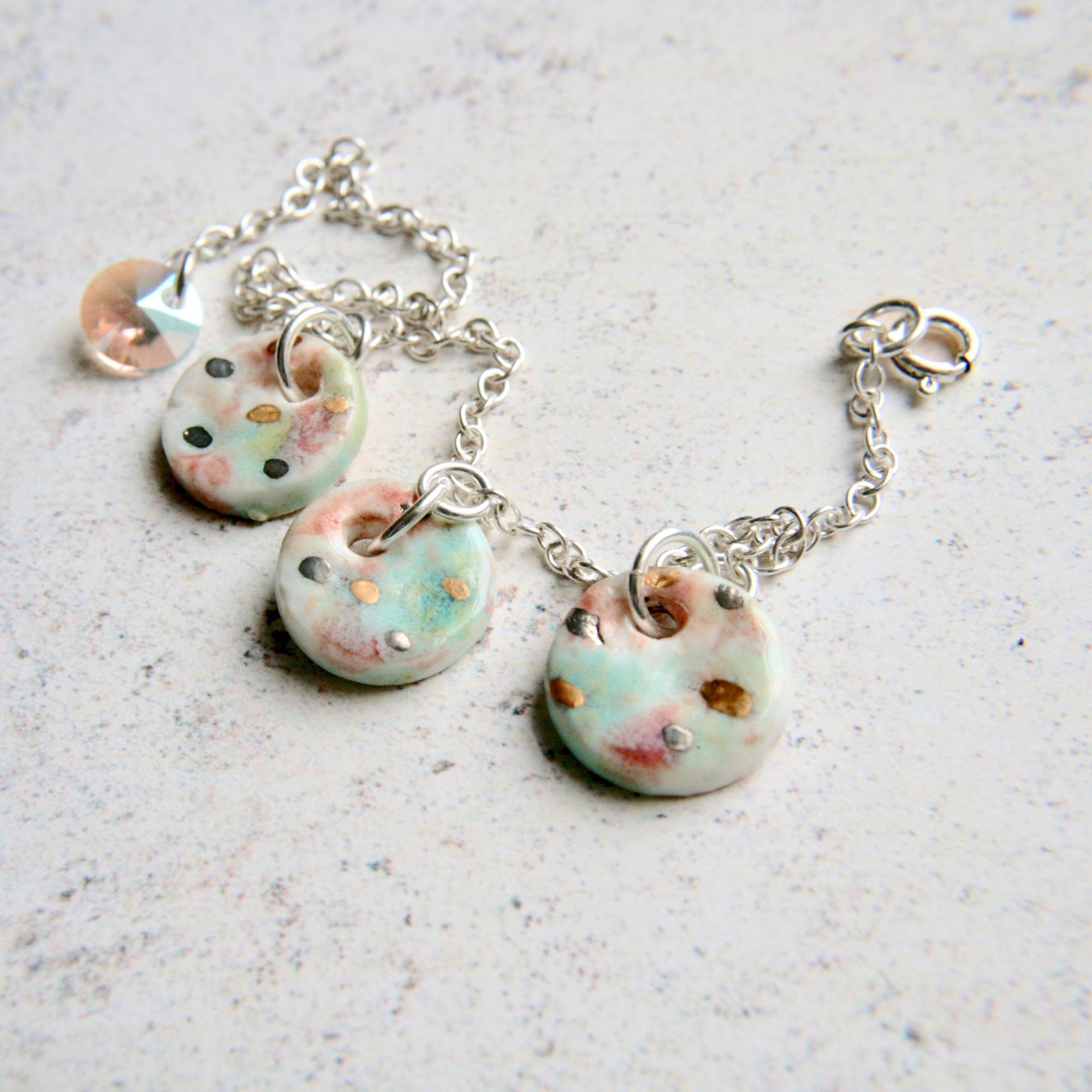 charm bracelet, summer bracelet, porcelain charms, decorella handmade jewellery (7).jpg