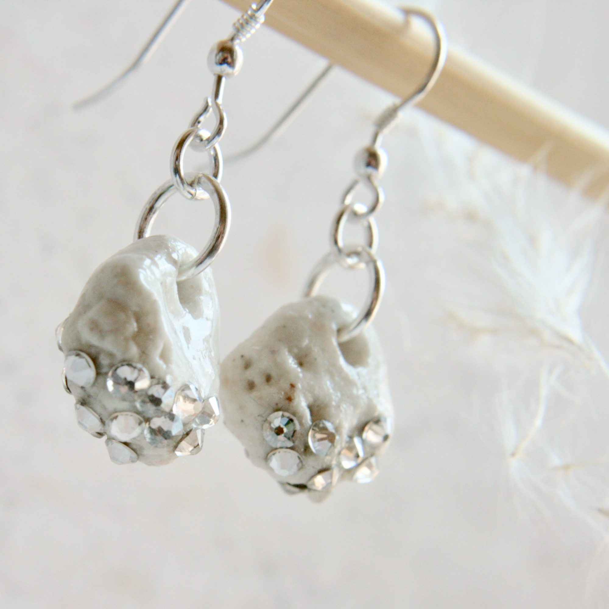 porcelain earrings, silver earrings, organic earrings with crystals (3).jpg