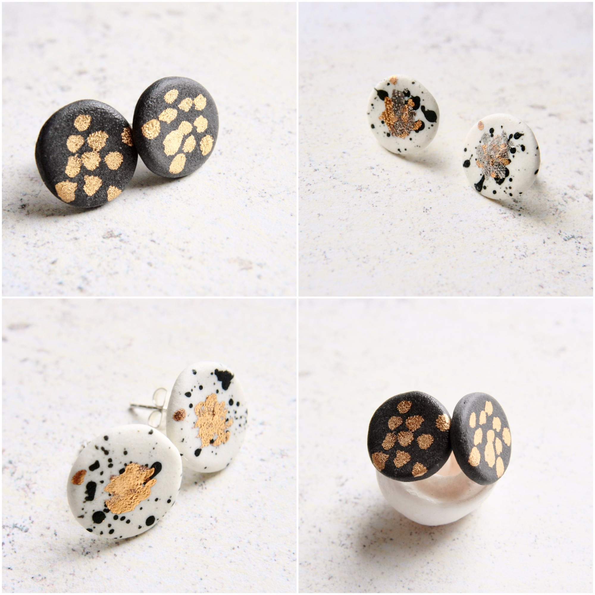 hand formed porcelain jewellery