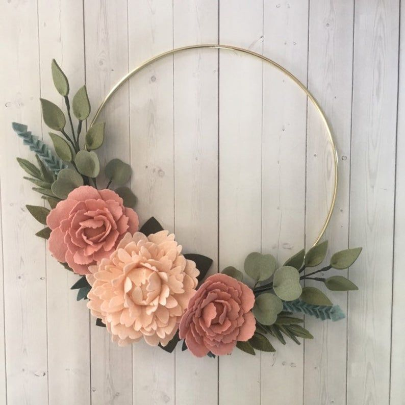 blush floral wreath