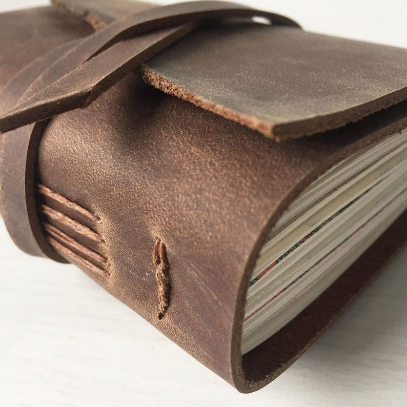 long stitch leather journal