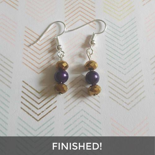 beaded earrings workshop