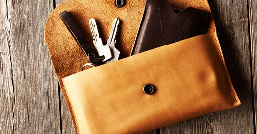 make a leather clutch bag