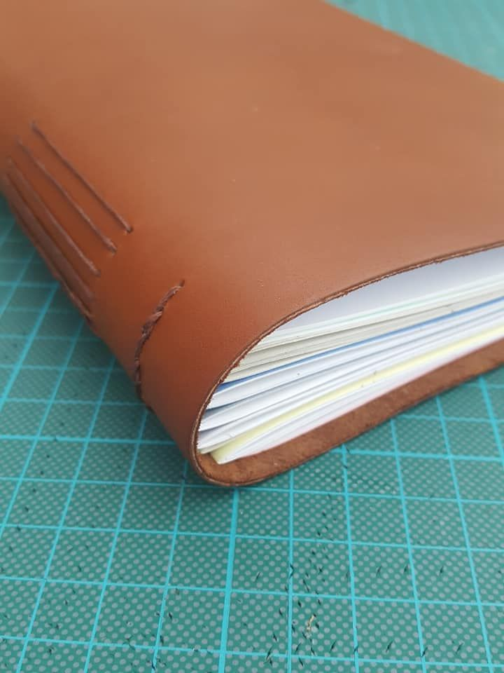 long stitch leather journal workshop