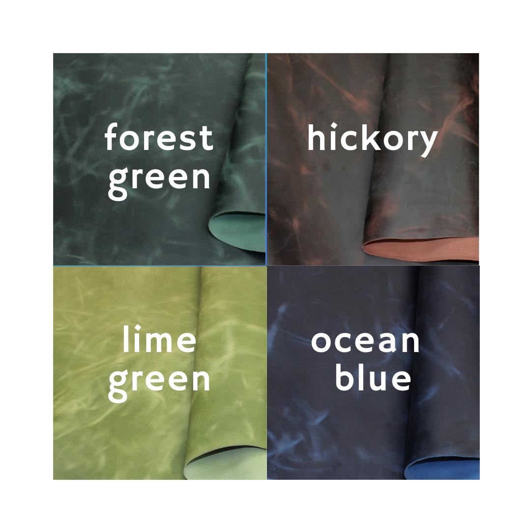 ocean blue leather grid