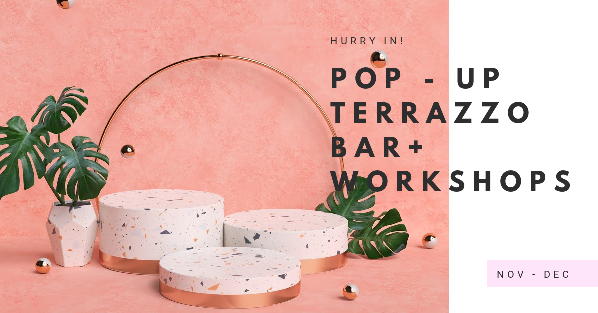 pop up terrazzo bar and workshops Richmond North Yorkshire