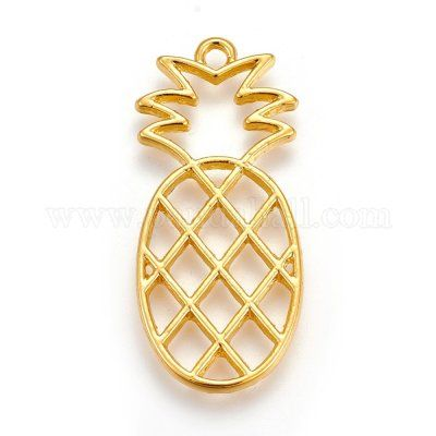 Pineapple Open Back Bezel Pendant