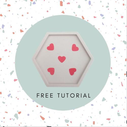 hearts eco-resin coaster tutorial
