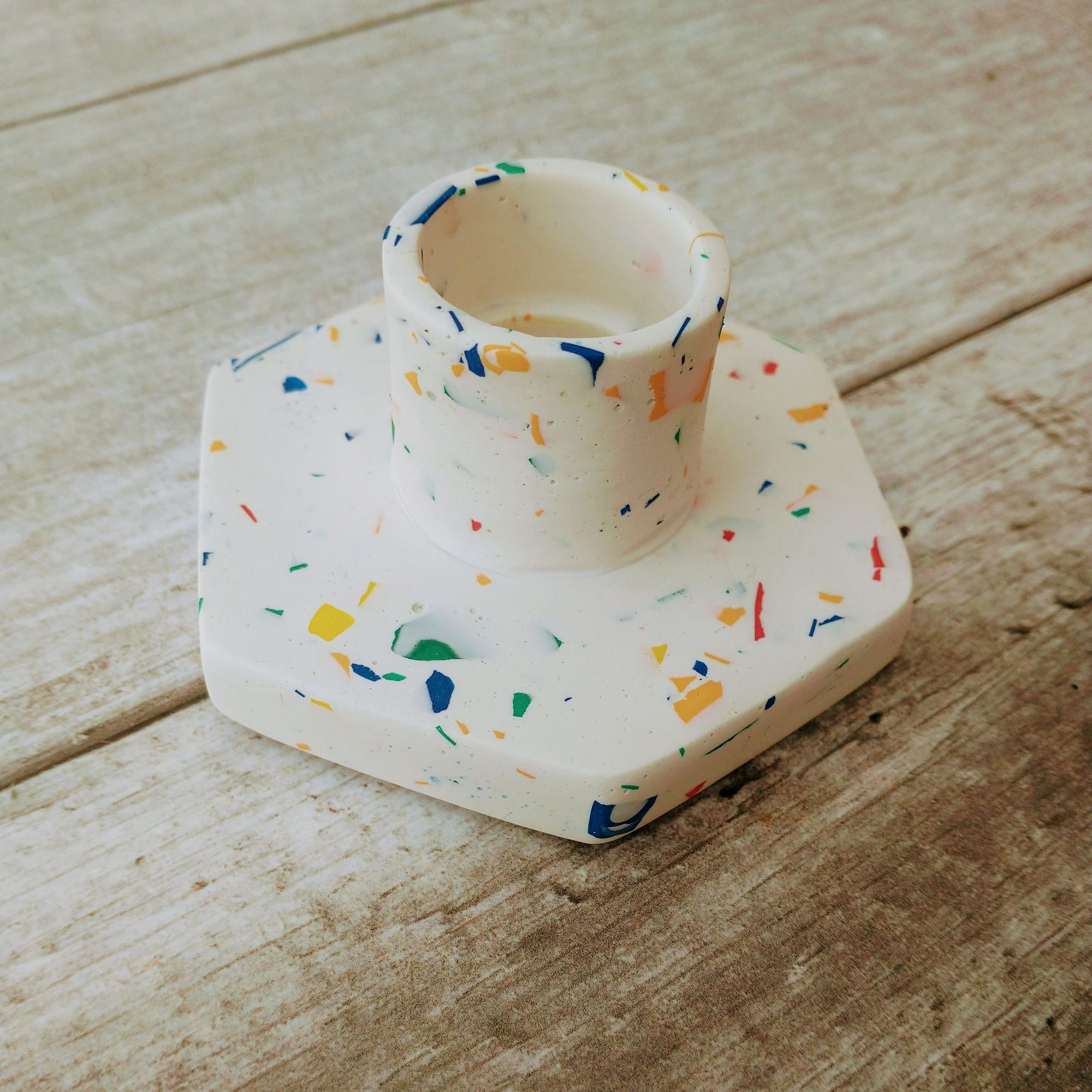 terrazzo candle holder Tawking Point