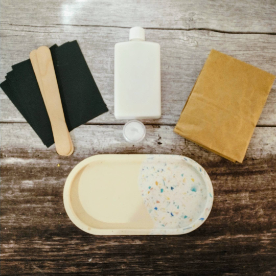 DIY Terrazzo Tray Kit   Choose Your Terrazzo Colour   Eco-resin kit