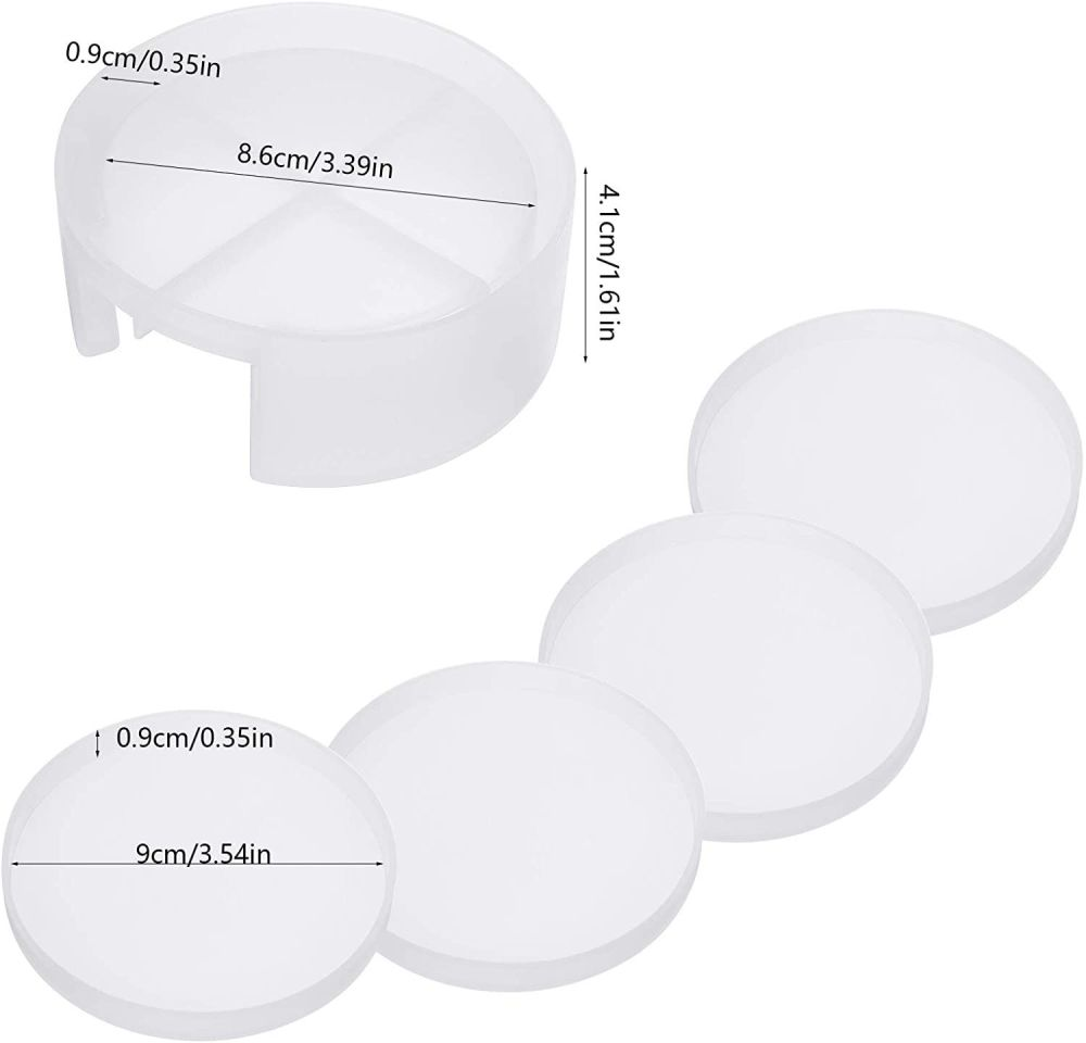 Round Coaster Mould with Holder
