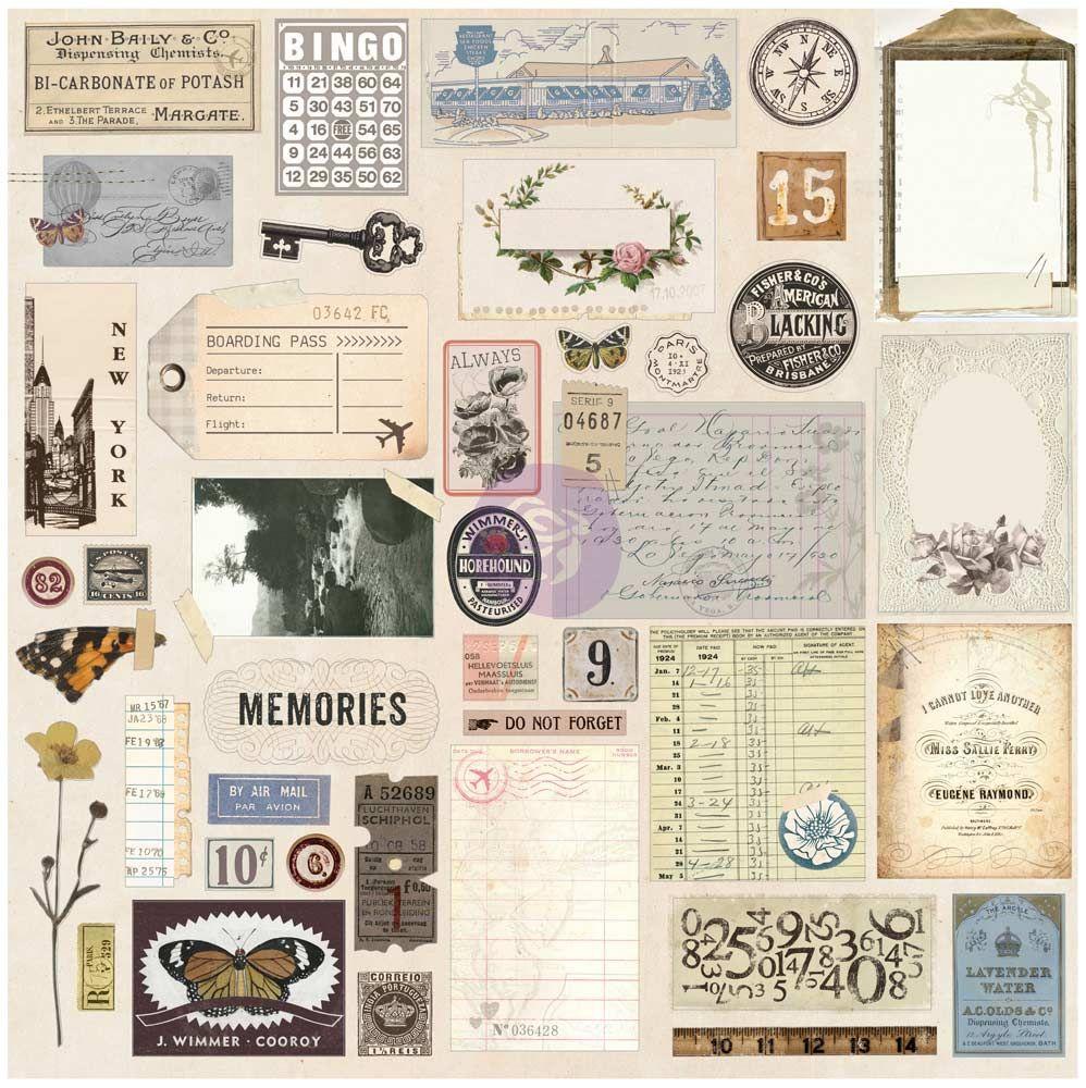 Traveler's Journal Vintage Ephemera & Sticker Sheet
