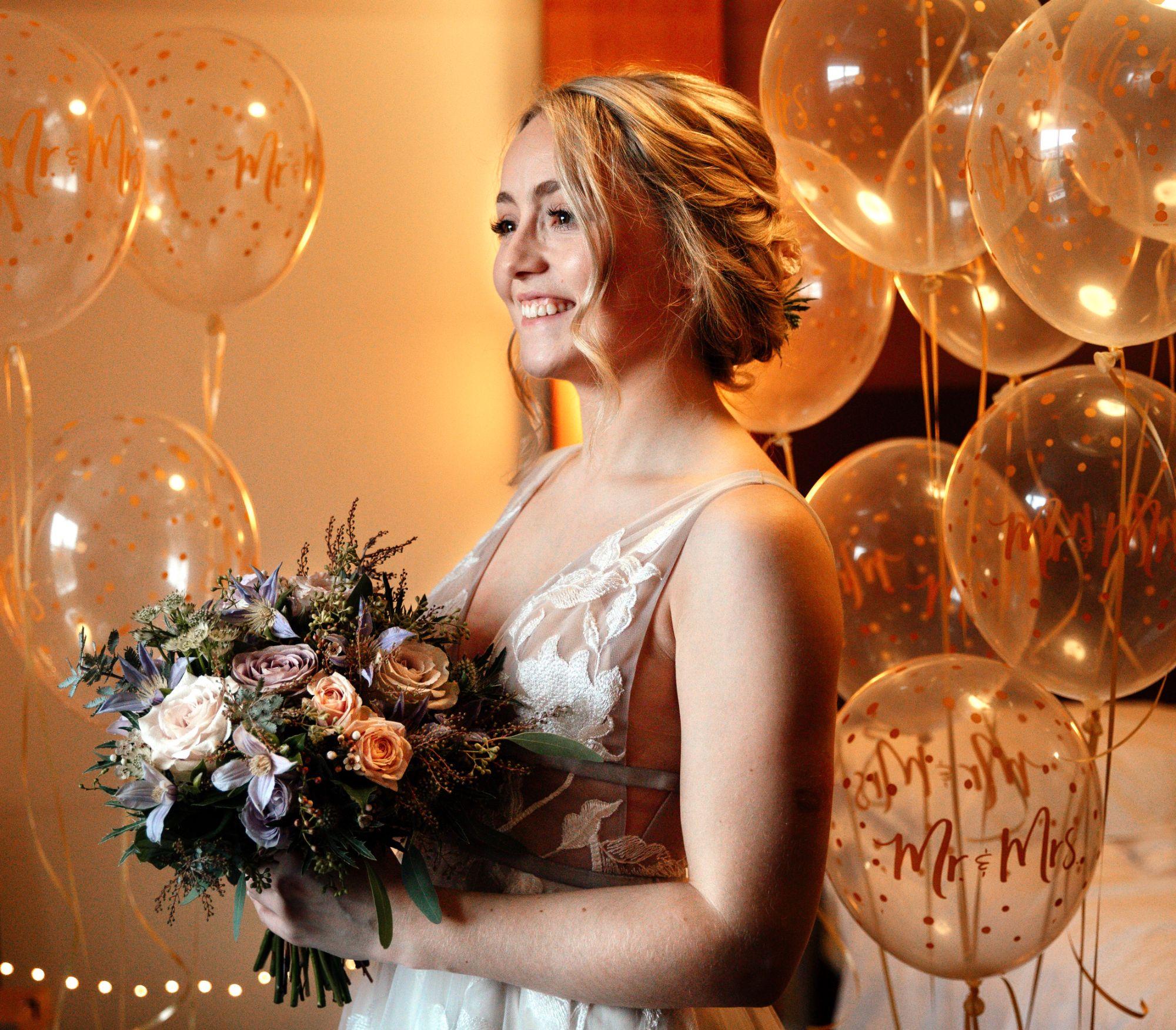 Happy bride photo