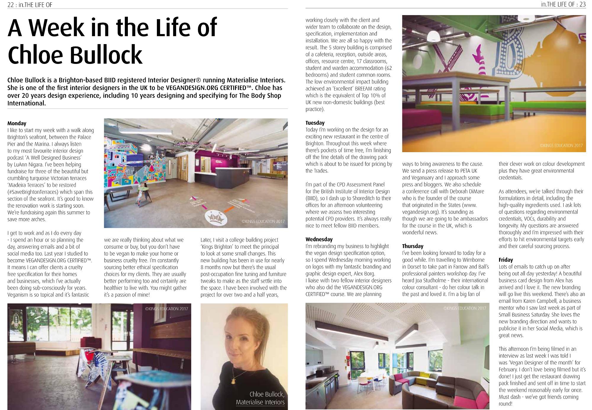 'In Design' magazine