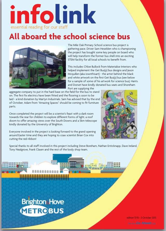 'InfoLink' Brighton & Hove Buses staff newsletter