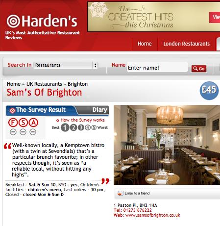 'Harden's UK Restaurant Guide'