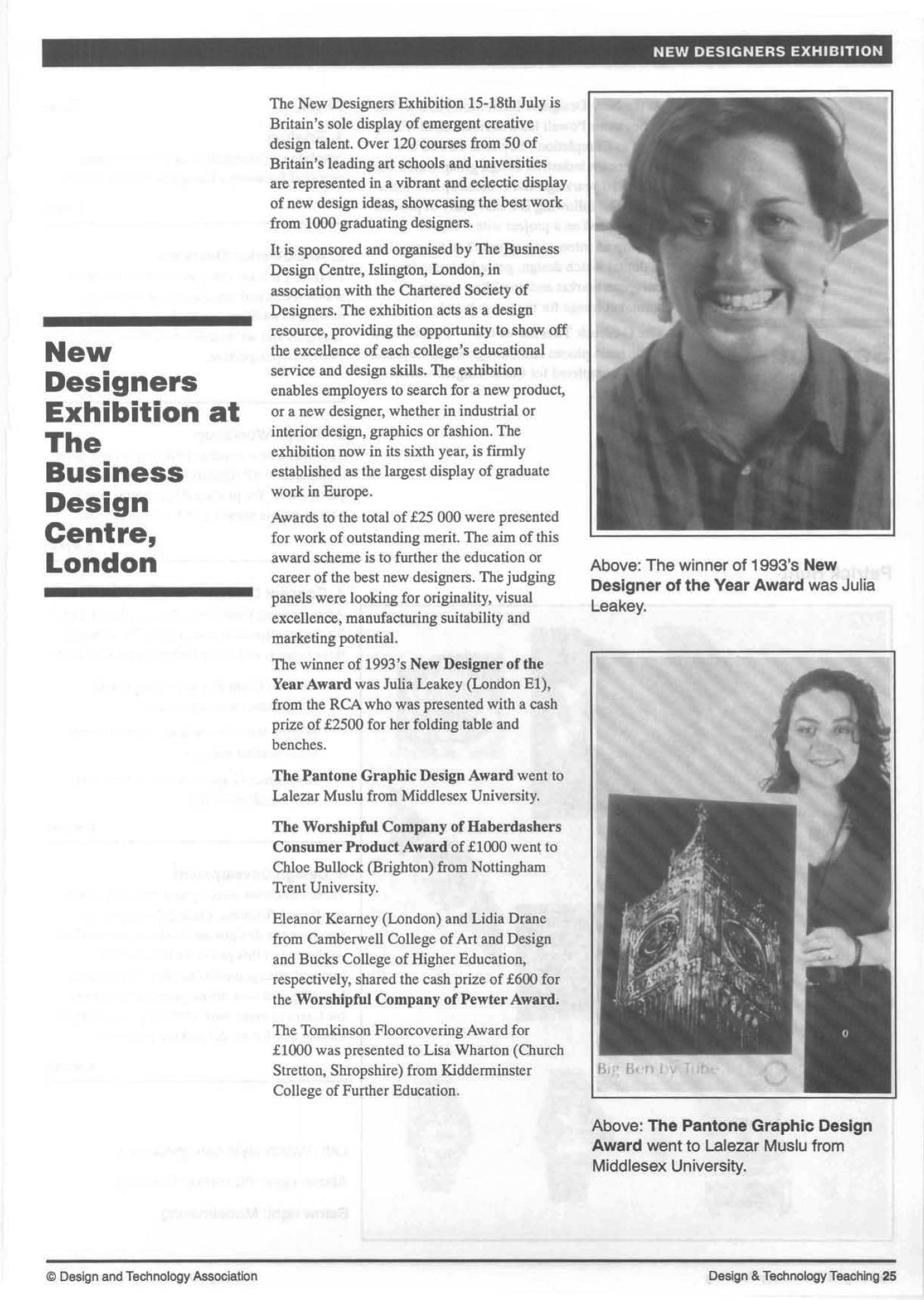 'New Designers'