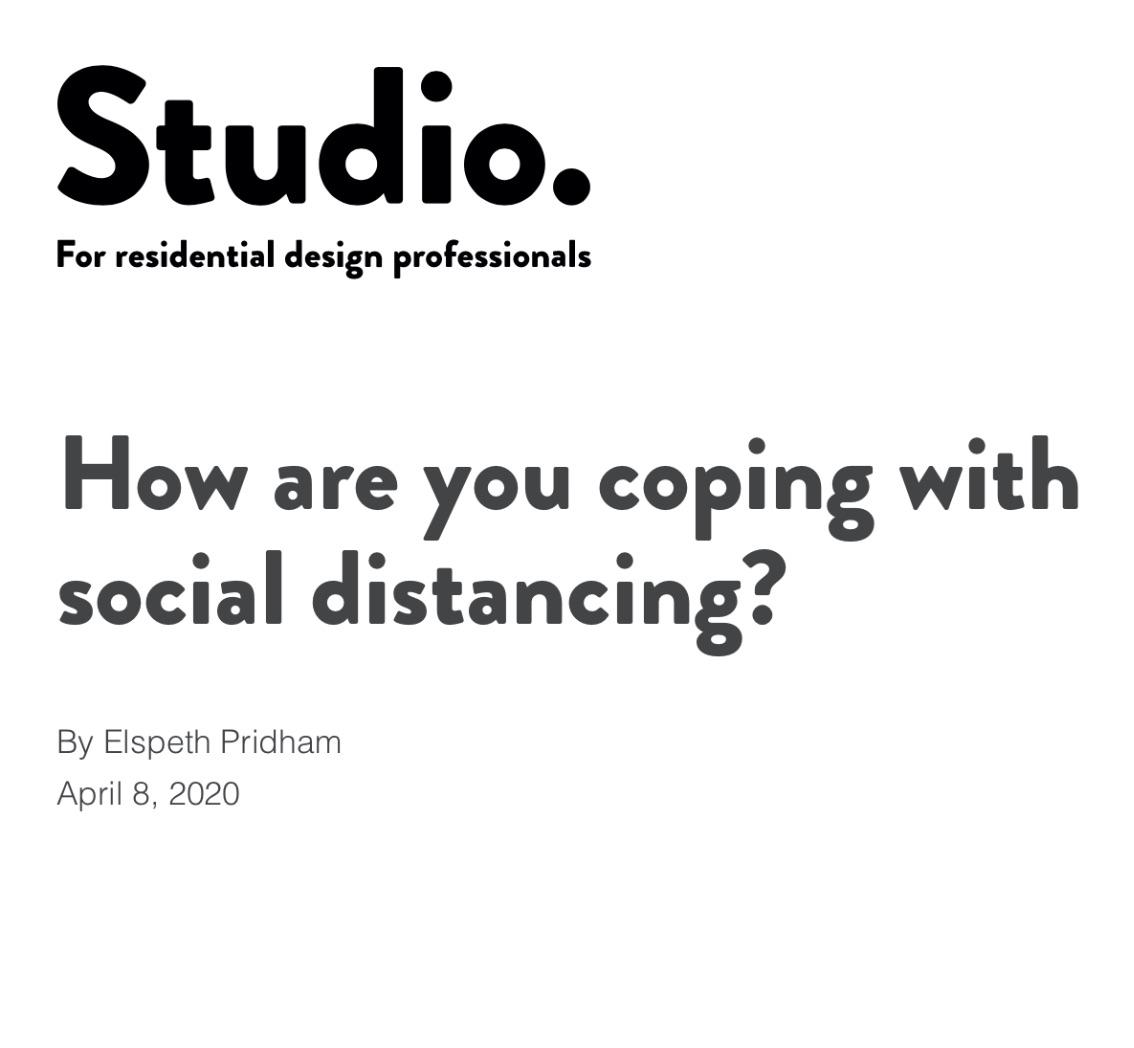 Studio magazine April  2020