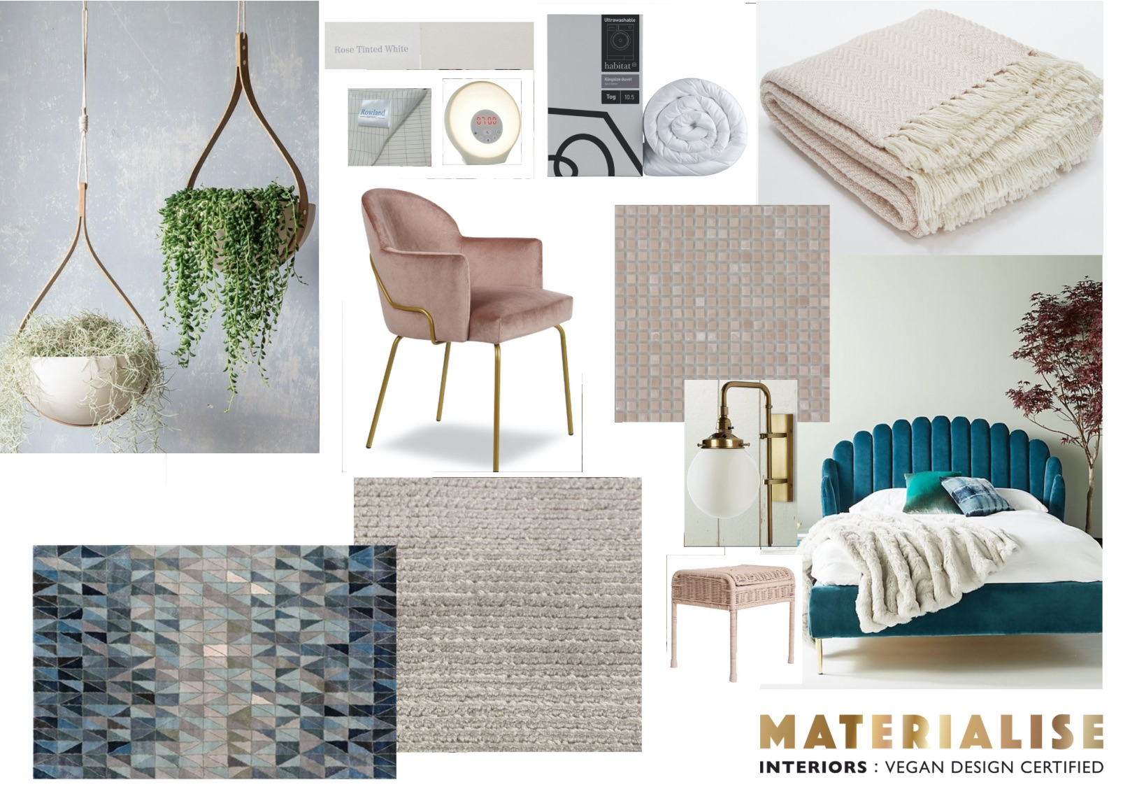 Mood Board  bedroom sustainable and cruelty free client 20.17.05