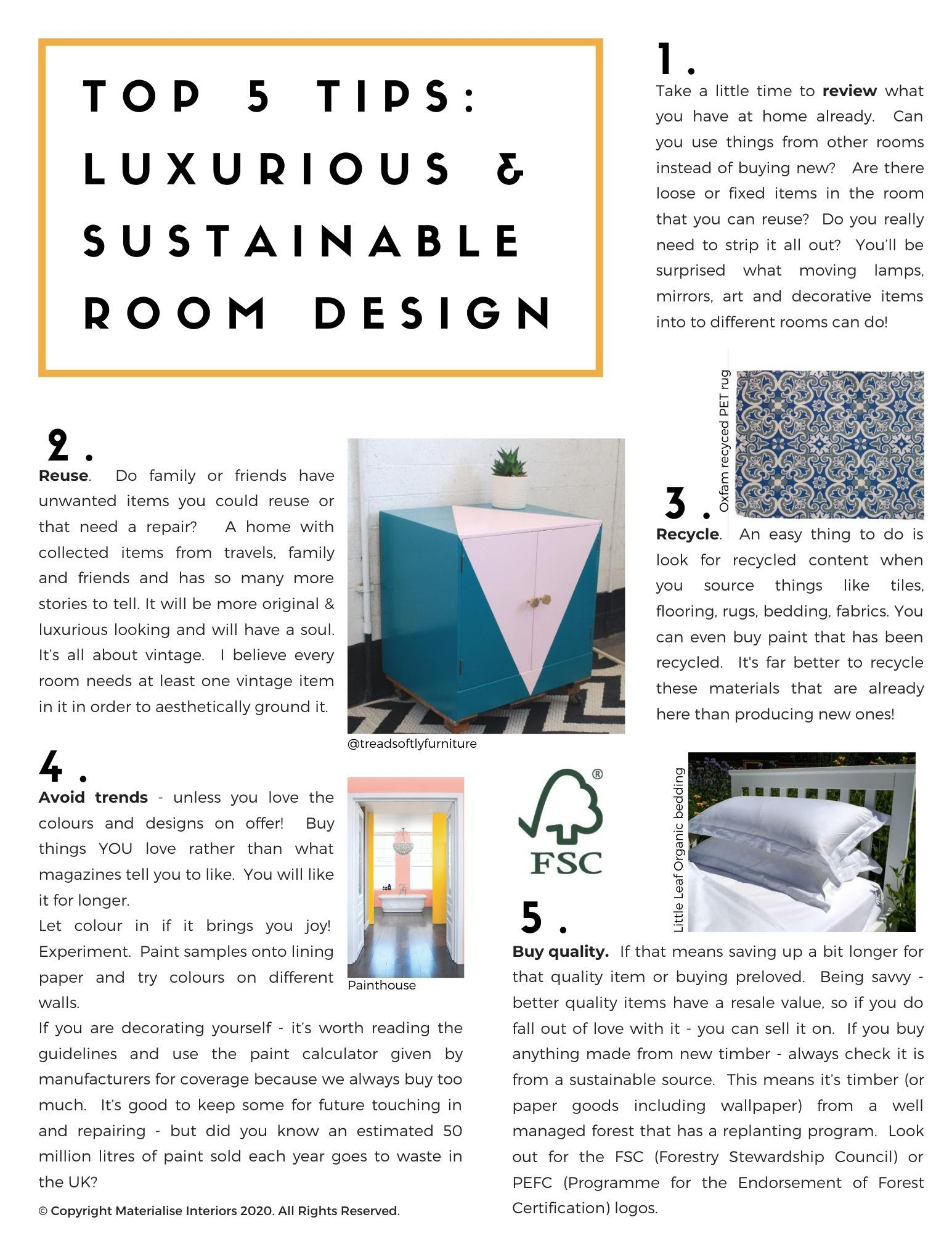 Top 5 Tips for Luxurious and Sustainable