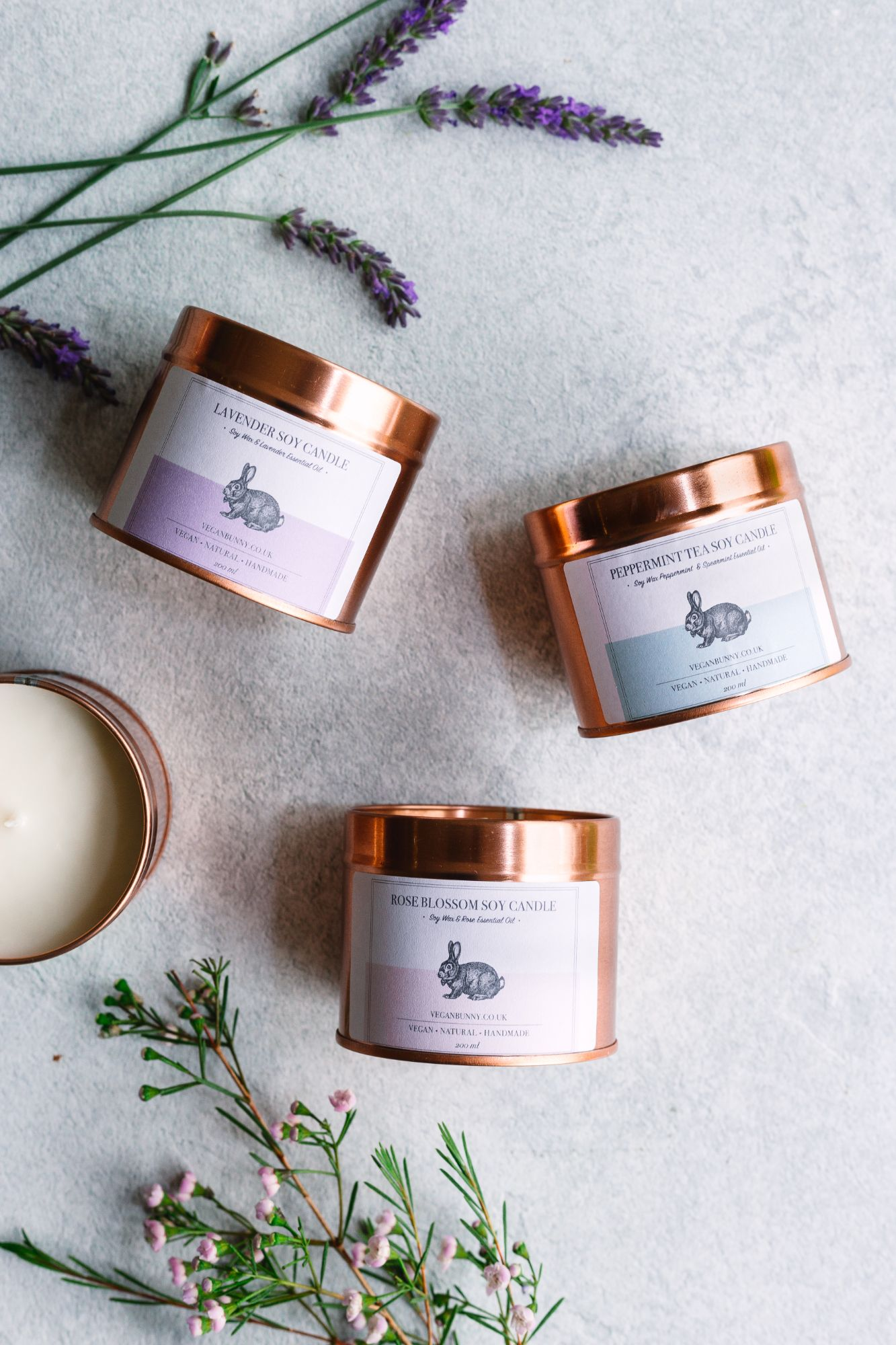 Limited offer - vegan bunny candle