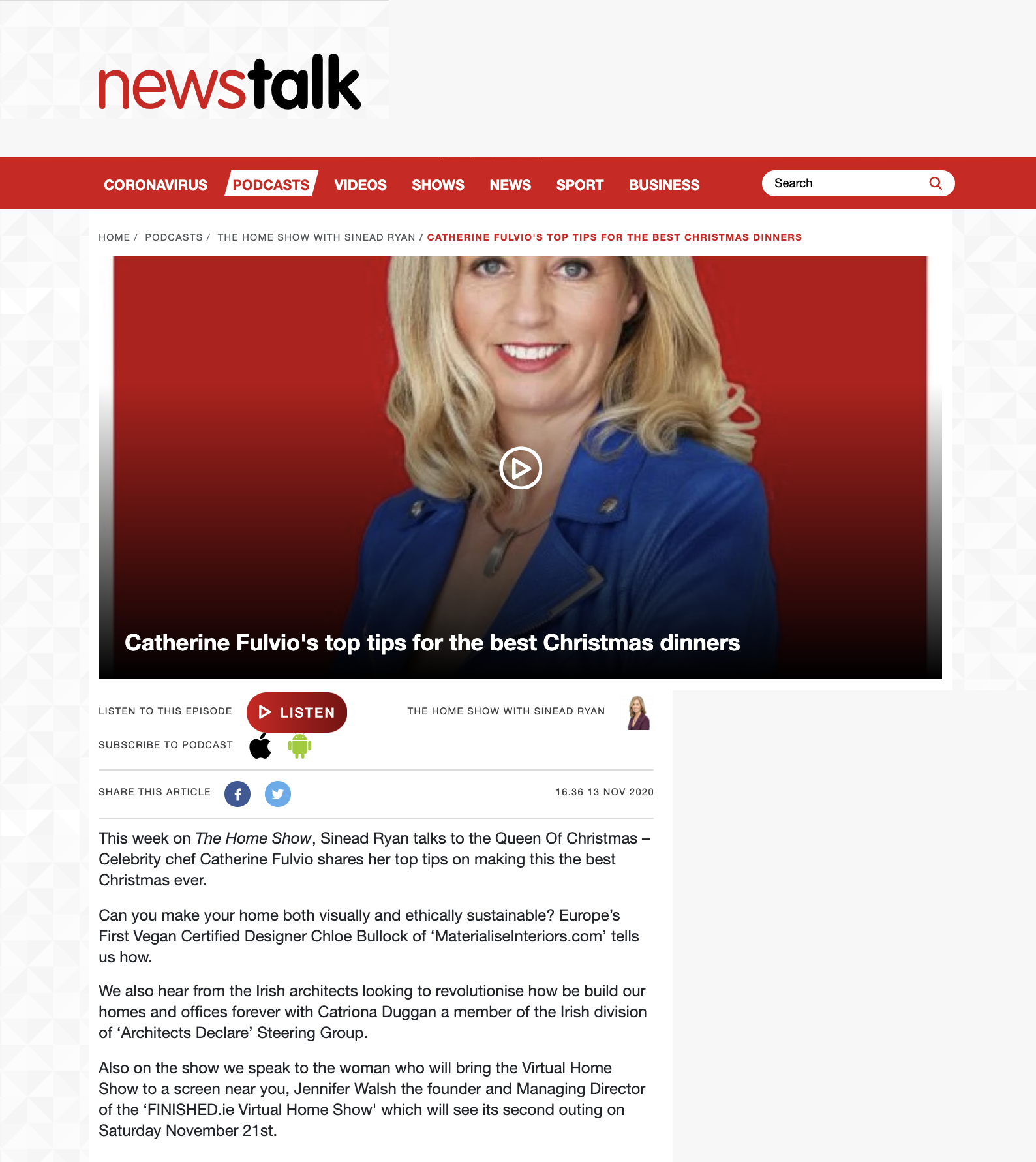 News Talk Sinead Ryan interview