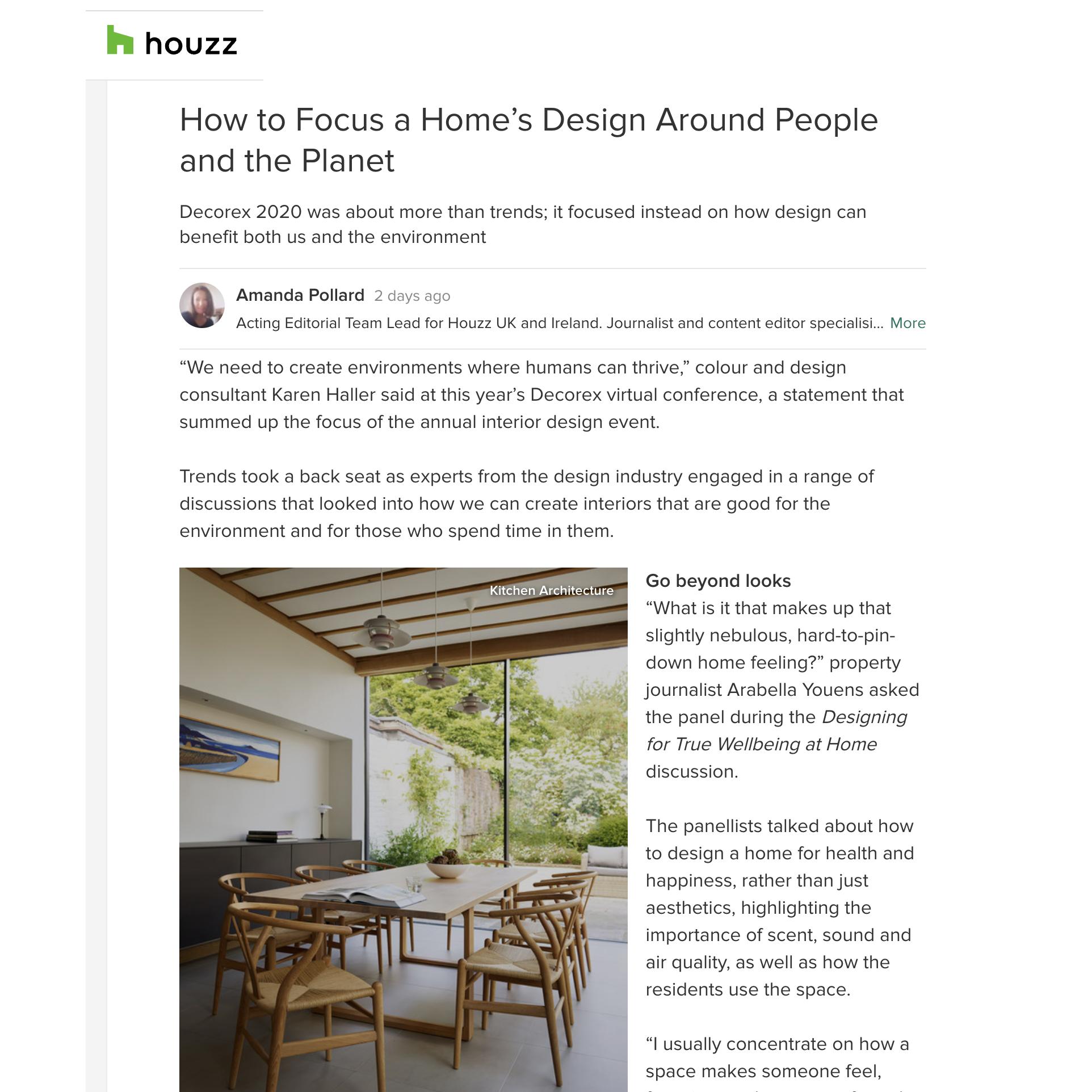 Decorex Houzz article