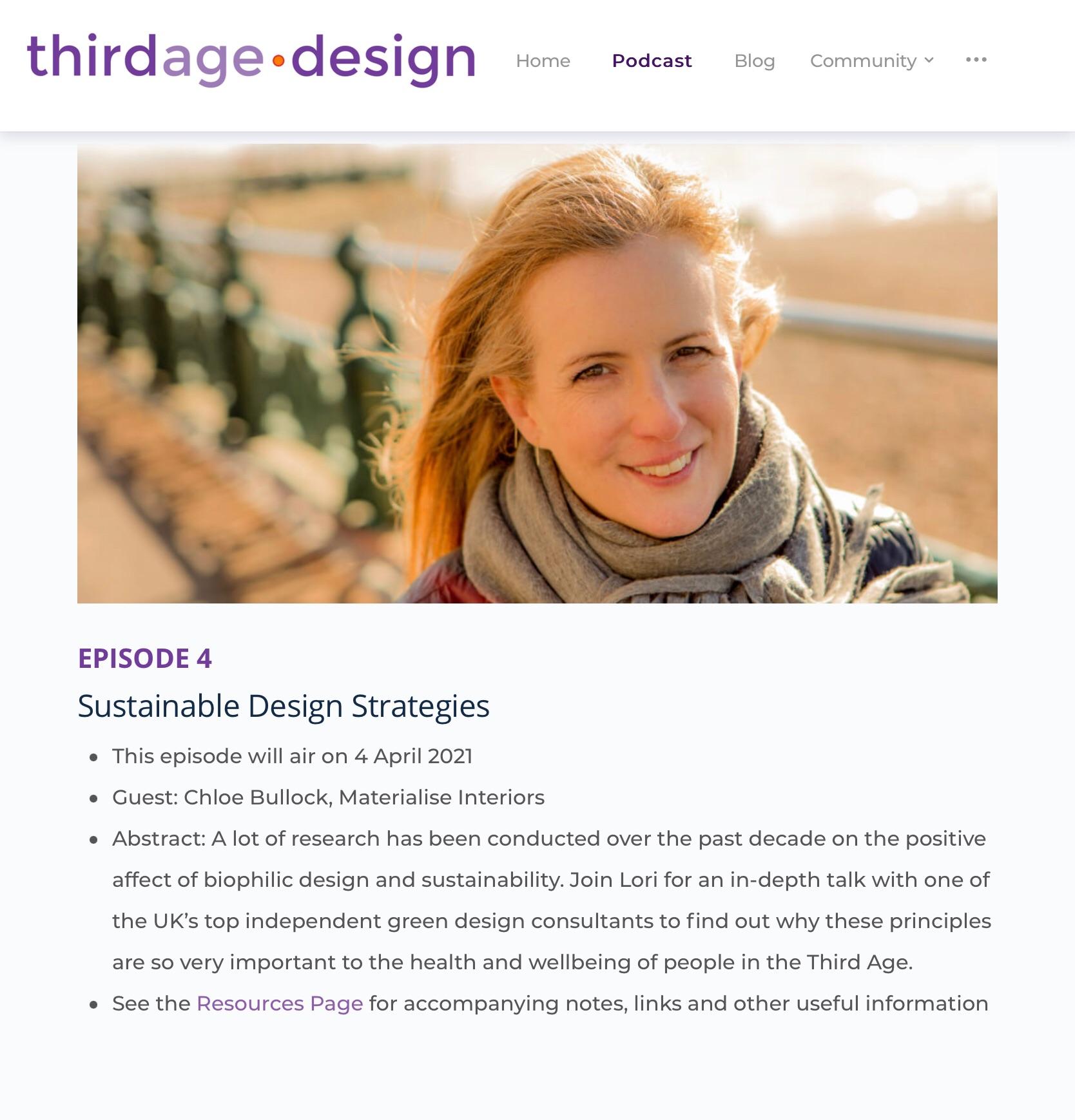 Third age design Lori Pinkerton roles podcast interview