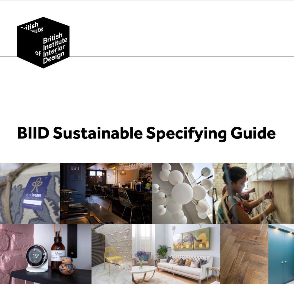 SUSTAINABLE SPECIFICATION GUIDE cover