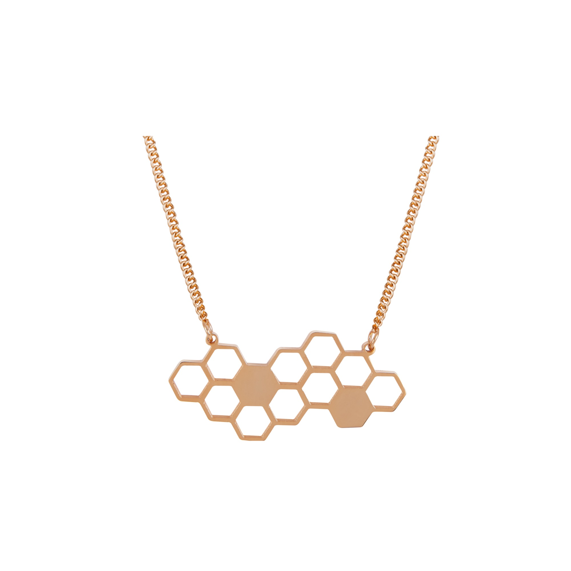 Honeycomb necklace rose