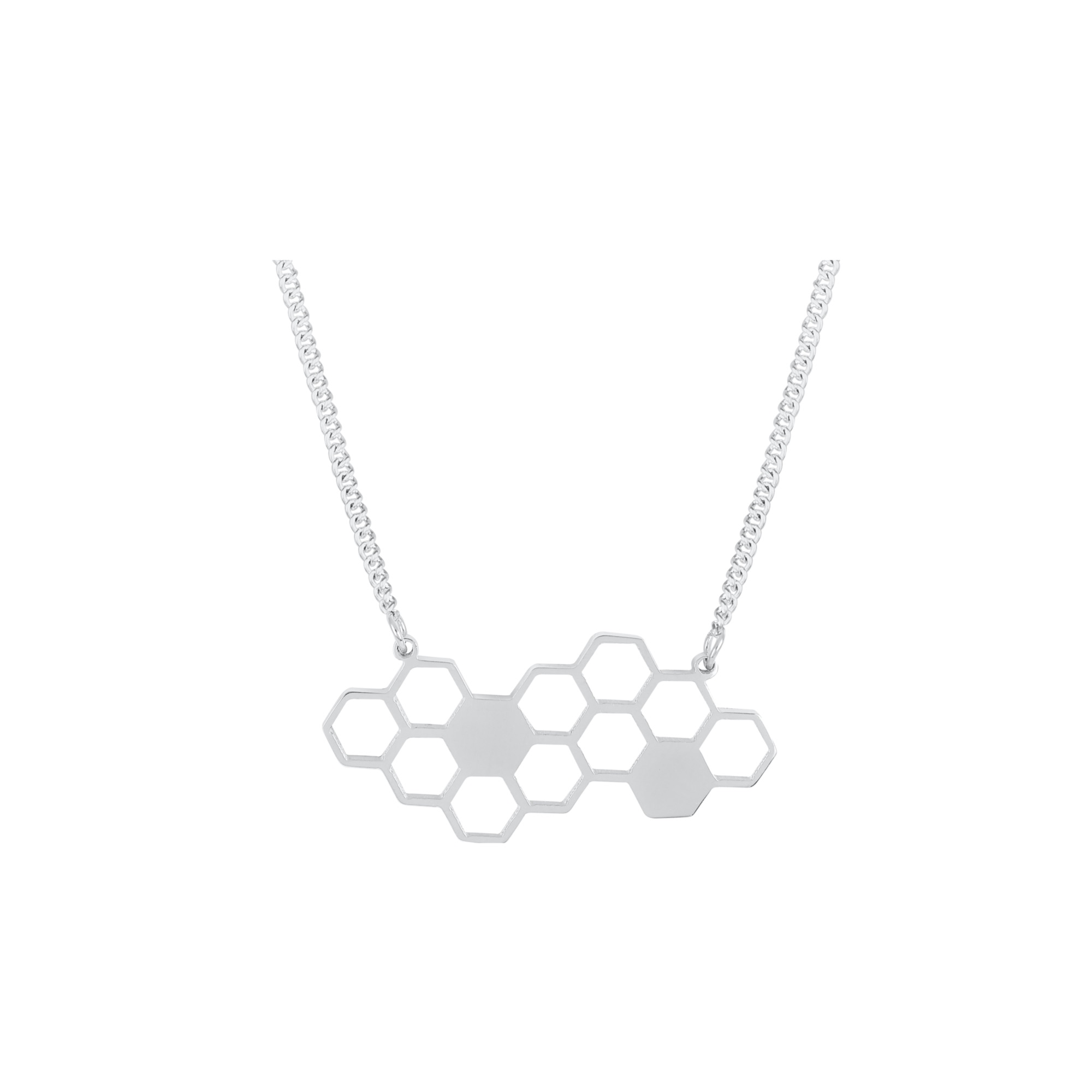 Honeycomb necklace steel