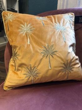Ochre palm cushion
