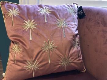 Blush Palm cushion
