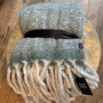 Grey woollen throw