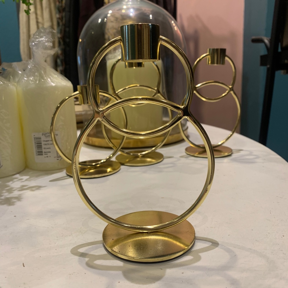 Gold candle stick  - Large