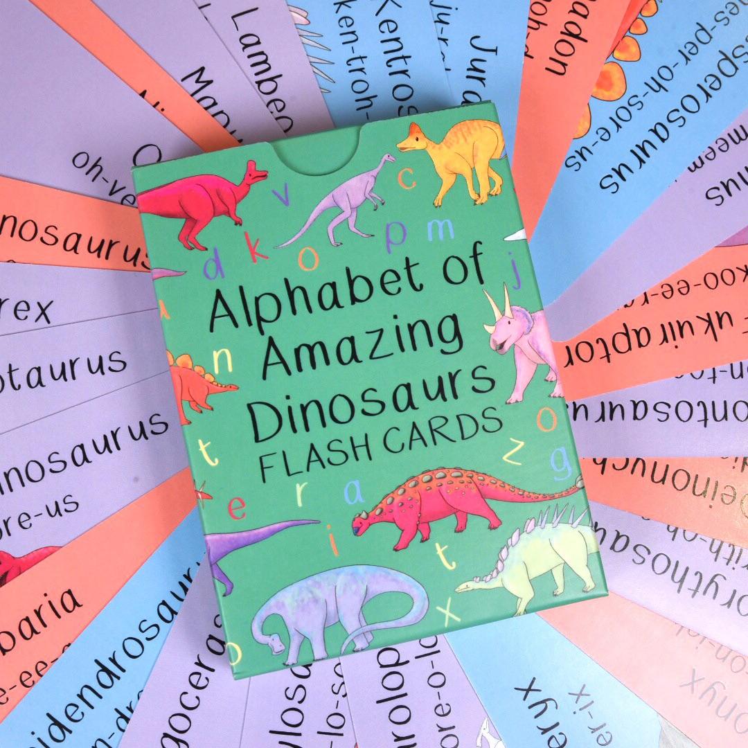 Amazing dinosaurs fact card set