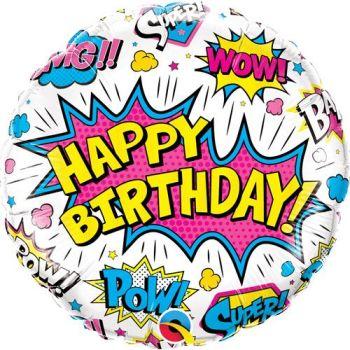 Happy Birthday Foil Balloon Pow