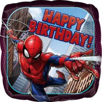 Happy Birthday Foil Balloon Spider-Man