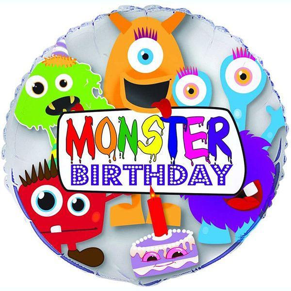 Monster Birthday Balloon