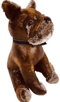 Faux Leather Bulldog Doorstop