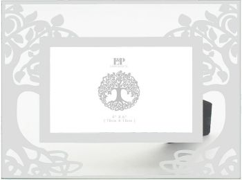 6 x 4 TREE OF LIFE GLASS MIRRORED PICTURE PHOTO FRAME