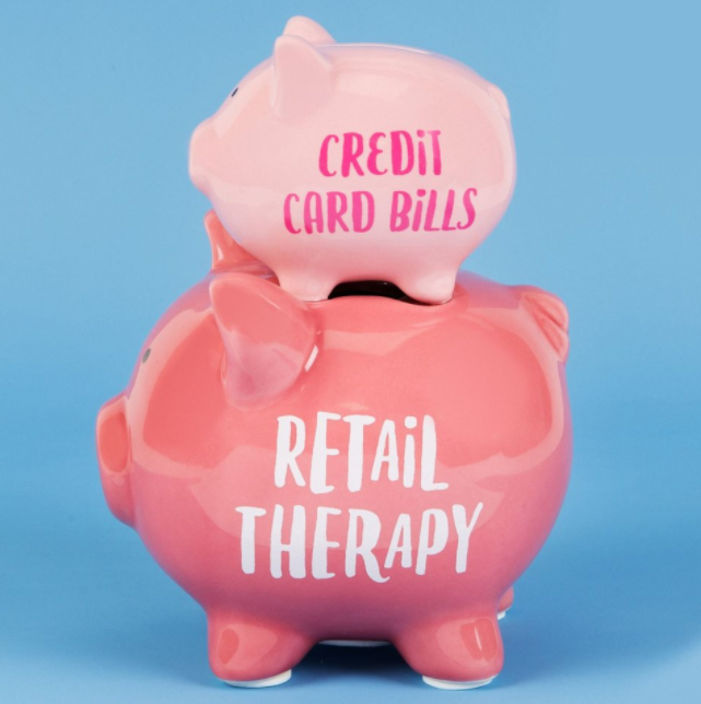 'Pennies & Dreams' Double Piggy Bank - Retail Therapy