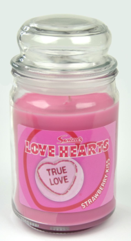 Swizzels Love Hearts Scented Candle (453g) Strawberry Kiss