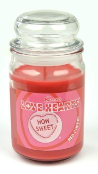 Swizzels Love Hearts Scented Candle (453g) Red Cherry