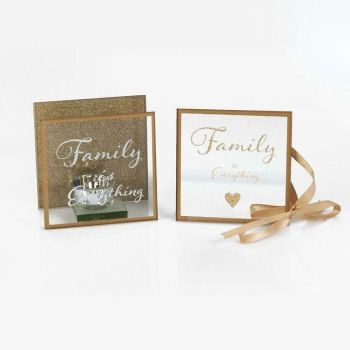 Family Is Everything Tea light holder and Hanging Plaque Gift