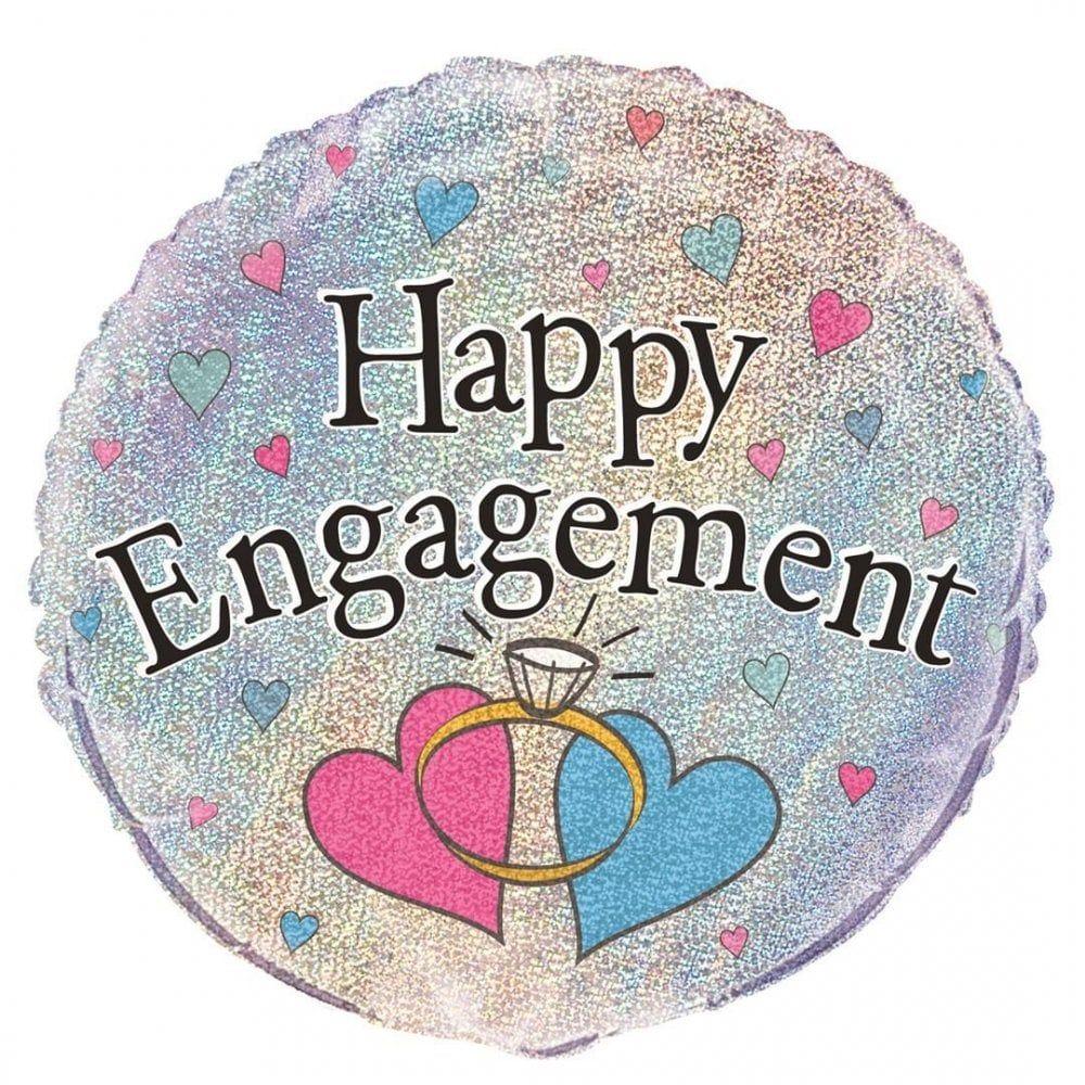Engagement Foil Balloon Hearts