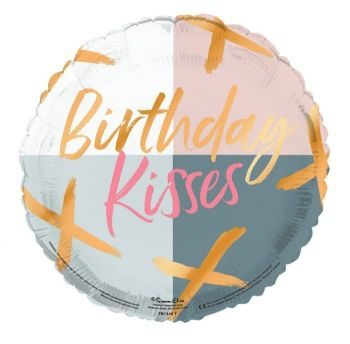 Birthday Kisses Foil Balloon