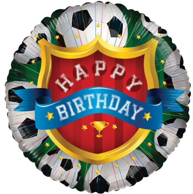 Happy Birthday Foil Balloon - Football