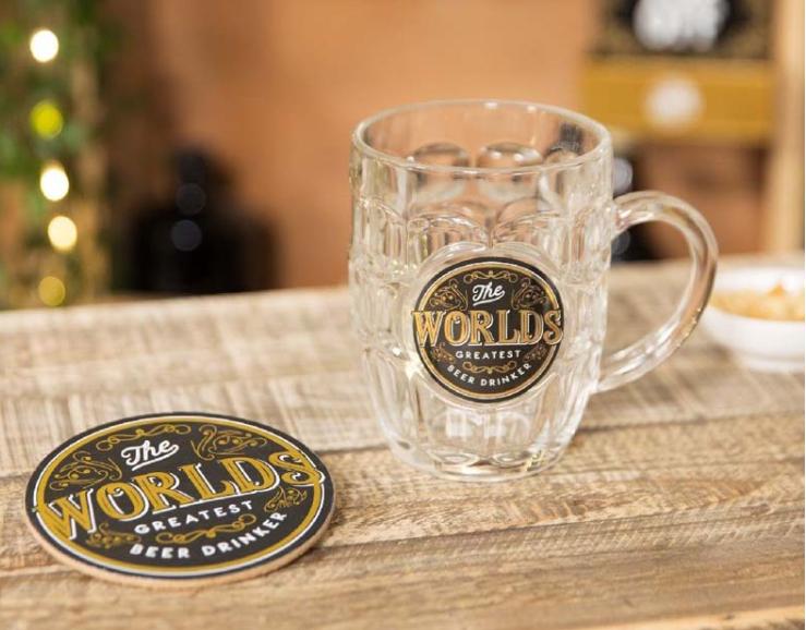 Brewmaster Beer Tankard & Coaster - The Worlds Greatest Beer Drinker
